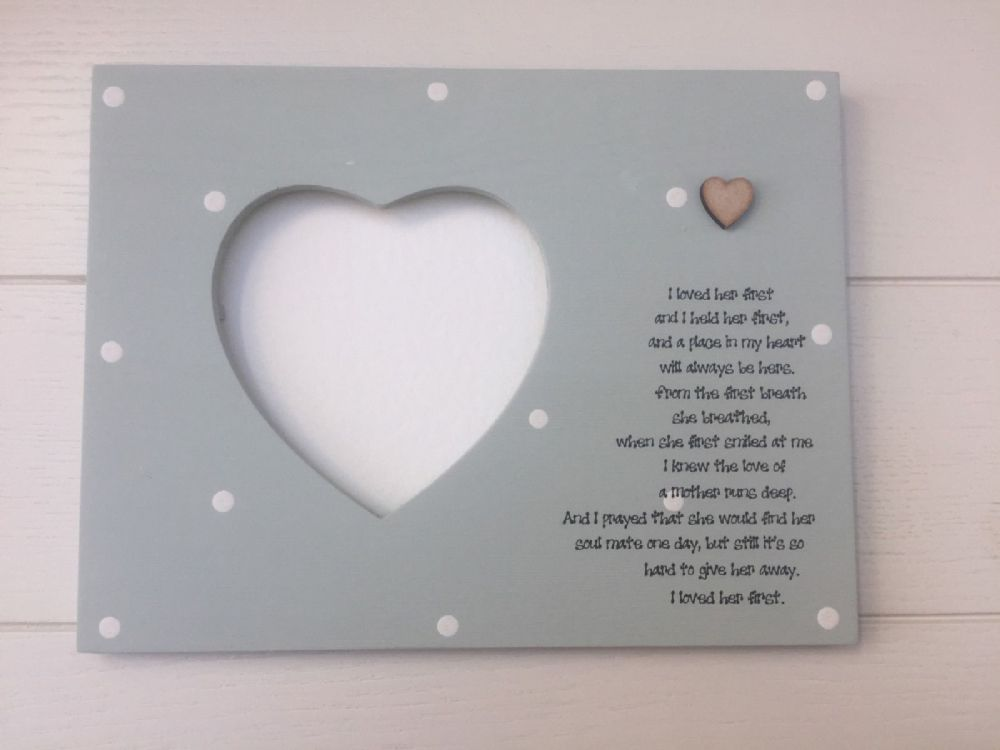Shabby personalised Gift Chic Daughter On Her Wedding Day Photo ...
